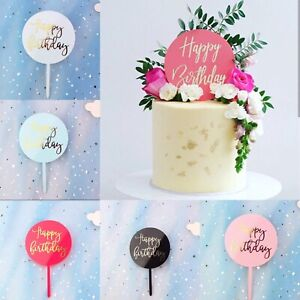 New acrylic cake toppers