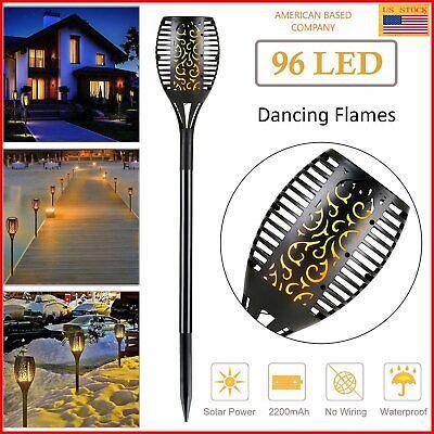 LED Solar Flame Tiki Torch Light Dancing/Flickering Flame Lamp](Led Tiki Torch)