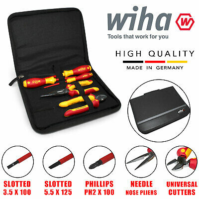 Wiha 26755 Vde Pliers Screwdriver Set Heavy Duty Combination Slotted Phillips