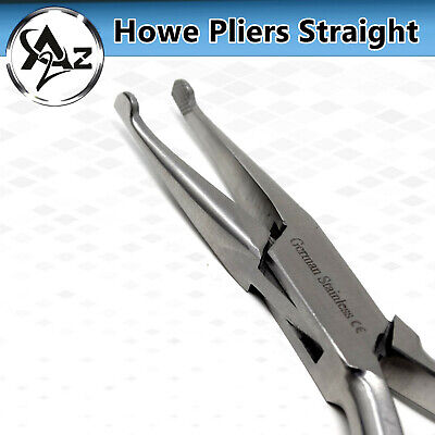 Dental Howe Crown Pliers 14cm Orthodontic Surgical Wire Bending Serrated Tips