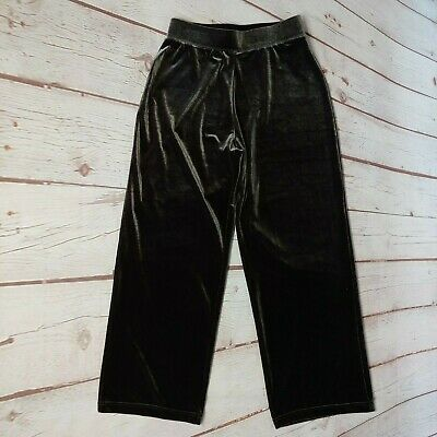 Susan Graver Womens Dark Brown Velour Pants Size Small Petite Stretch Waist MINT Brown Velour Pants