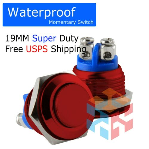 19mm Waterproof Starter Switch Boat Horn Momentary Push Button Stainless Steel R