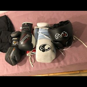 Boxing Gloves and Headgear
