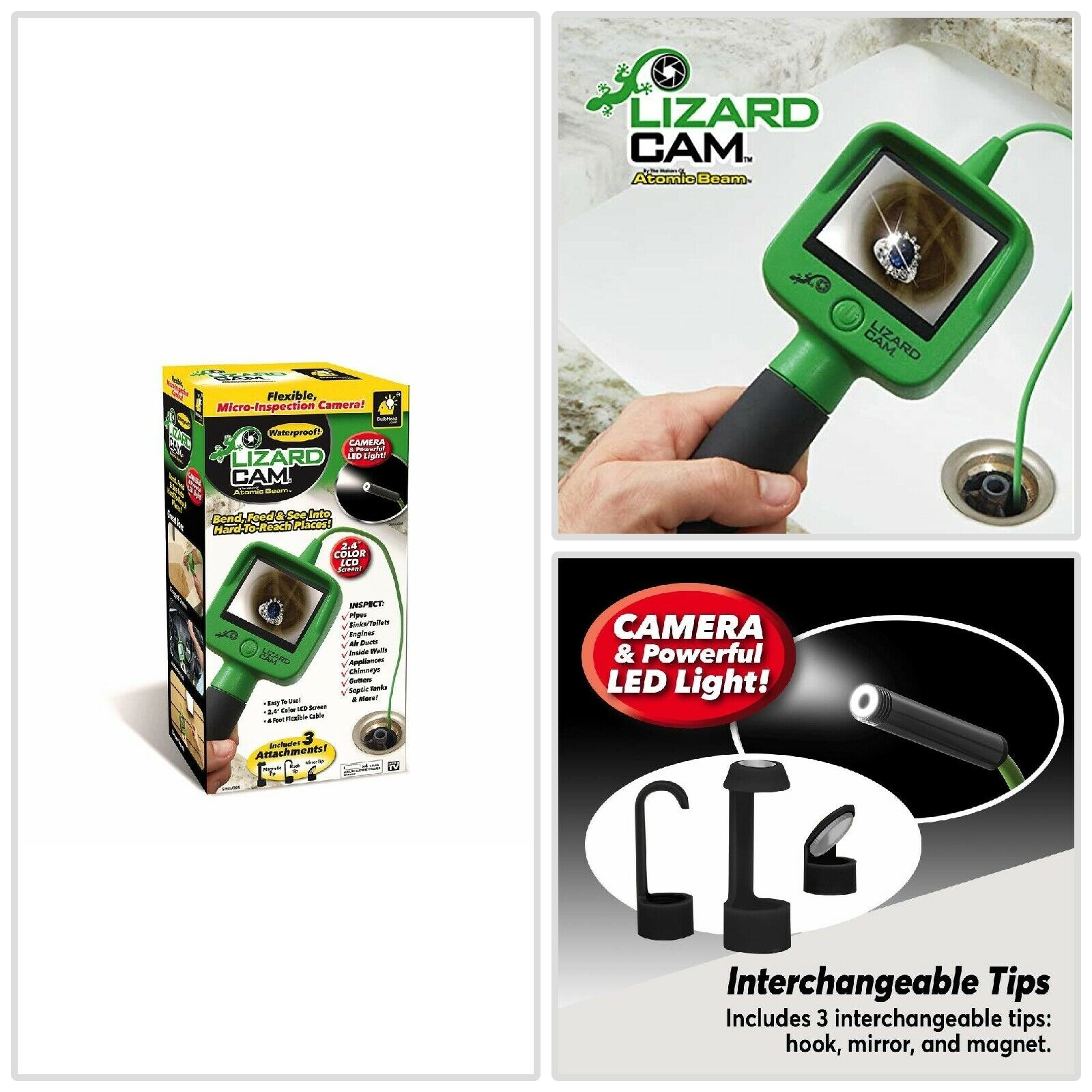 hand held borescope wireless micro inspection camera