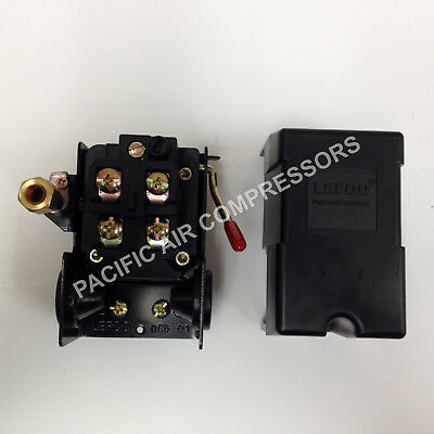 Heavy Duty Air Compressor Pressure Switch 95-125 Psi Adjustable 4 Port 14