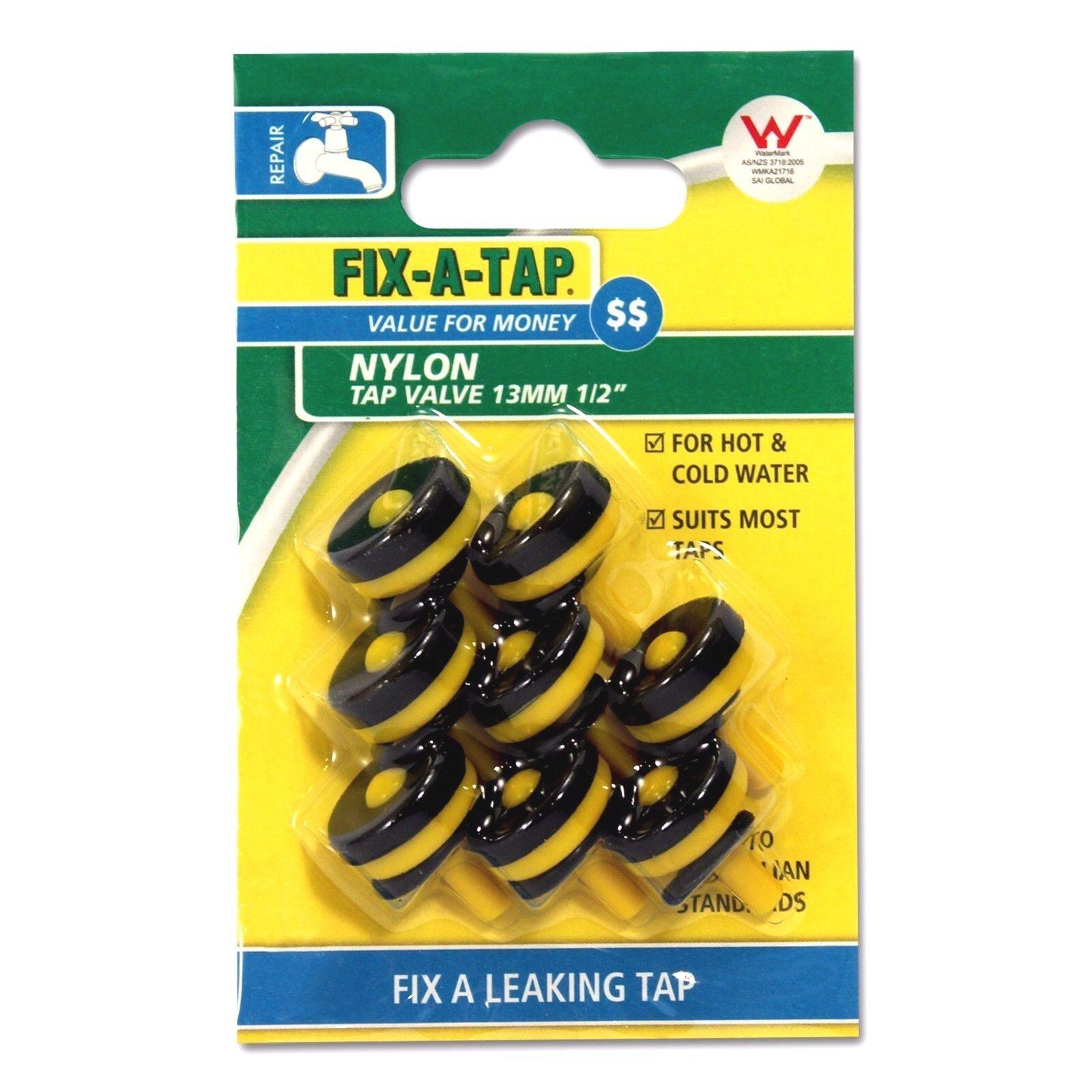 Details about Fix-A-Tap NYLON TAP VALVES 13mm - 8 Value Pack