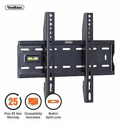 """VonHaus 15-42"""" Fixed TV Wall Mount Bracket with Built-In Spirit Level"""