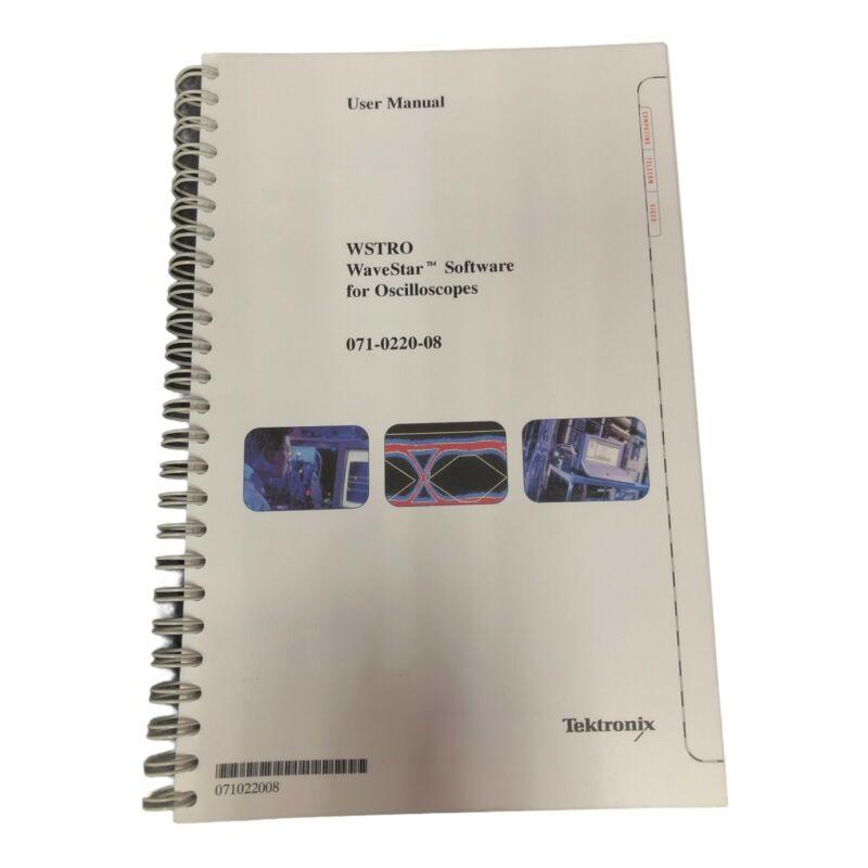TEKTRONIX WSTRO WAVESTAR SOFTWARE FOR OSCILLOSCOPES USER MANUAL 071-0220-08