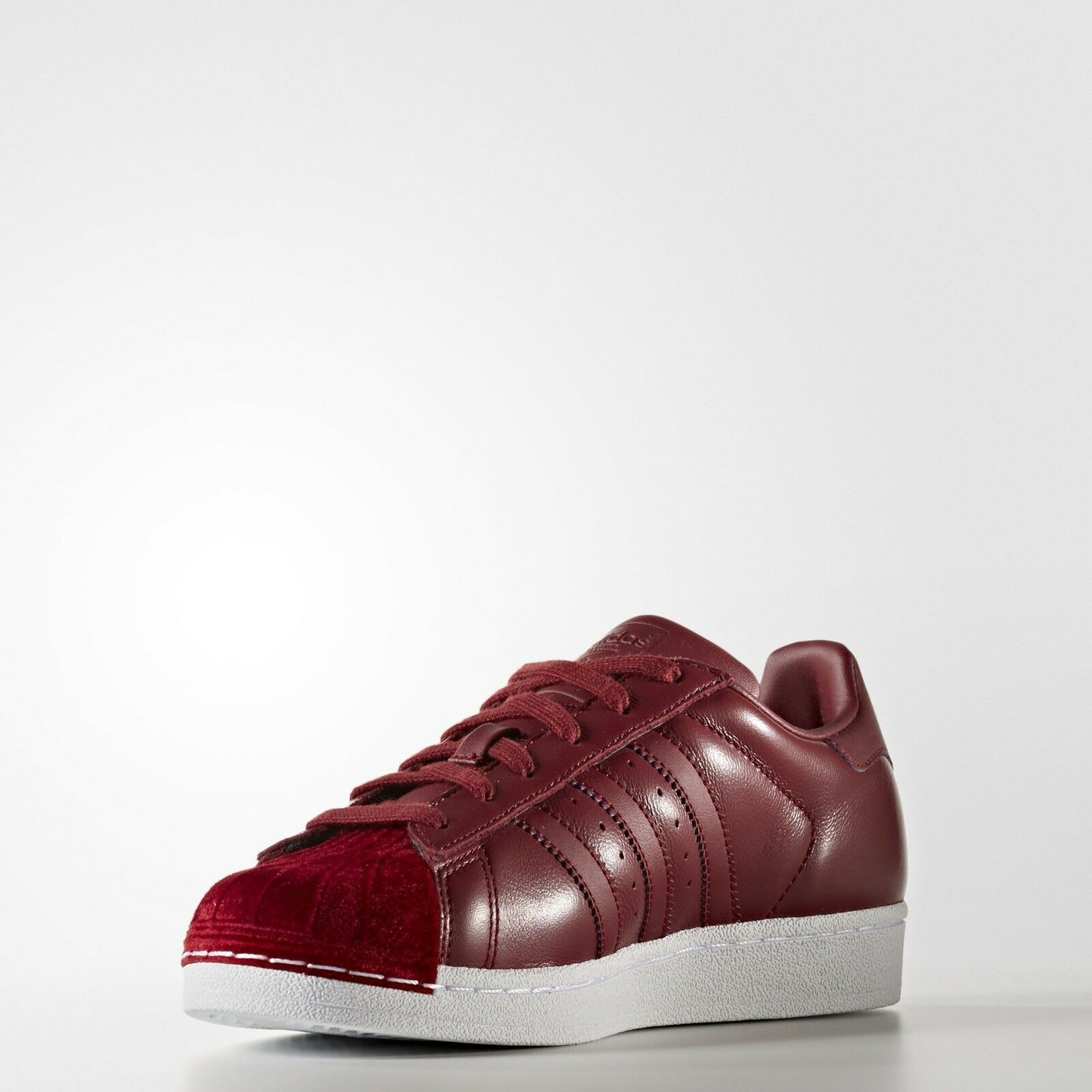 1710 ADIDAS SUPERSTAR BZ0644 COLLEGIATE BURGUNDY WOMEN'S RUNNING SHOES  1