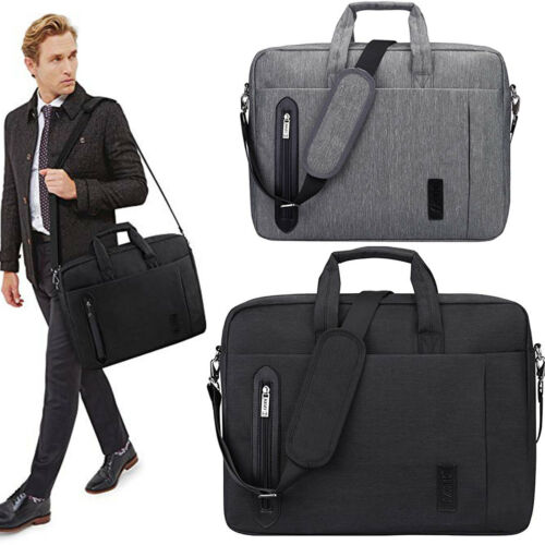 Men's 17.3''Laptop Briefcase Case Messenger Shoulder Bag Bus