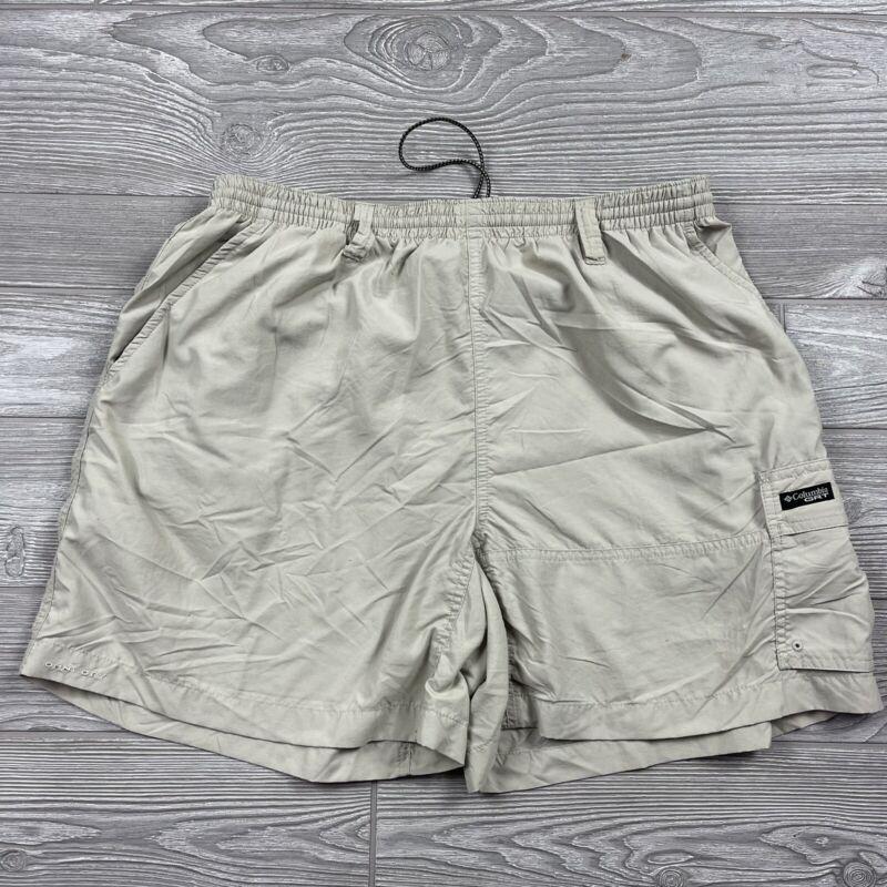 Columbia GRT Packable Shorts Womens Large Tan Beige Cargo 30x6 D19