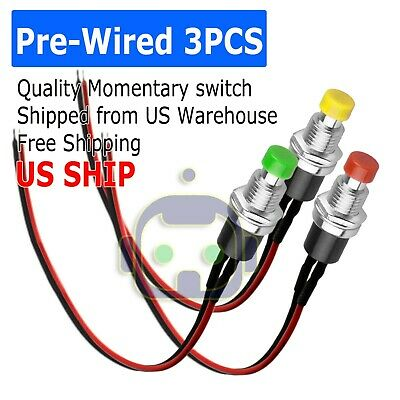 3pcs Micro Lockless Momentary Onoff Push Button 12v 5a Switch Tact Assortment