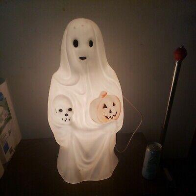 "Vintage Empire Blow Mold Halloween Ghost Pumpkin Skull Light Up Yard Decor 23"""