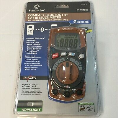 Southwire Compact Bluetooth Cat Iii Multimeter 16040t Memory New In Box