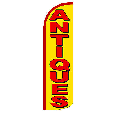 Antiques Yellow Windless Advertising Sign Feather Flag Only Banner 30 Wider