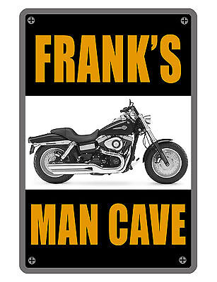 Personalized Man Cave   Garage Sign Printed Your Name Custom Aluminum Signs Spst