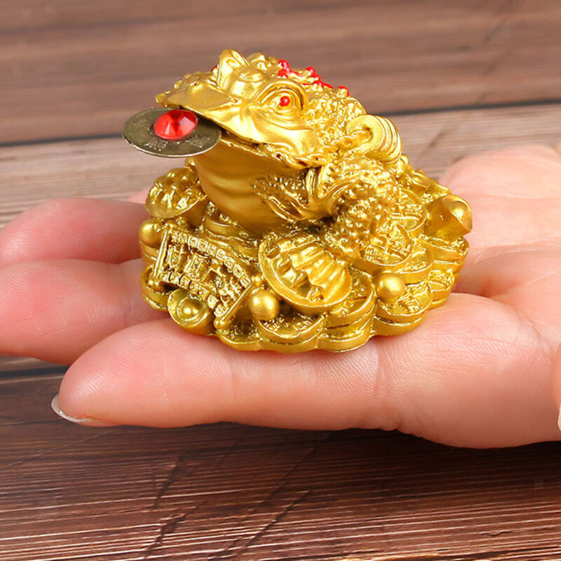 Feng Shui Oriental Chinese Wealth Lucky Money Frog Toad Attract Wealth Decor