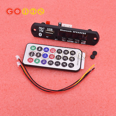 Wireless Bluetooth 12V MP3 WMA Decoder Board Audio Module USB TF Radio Car
