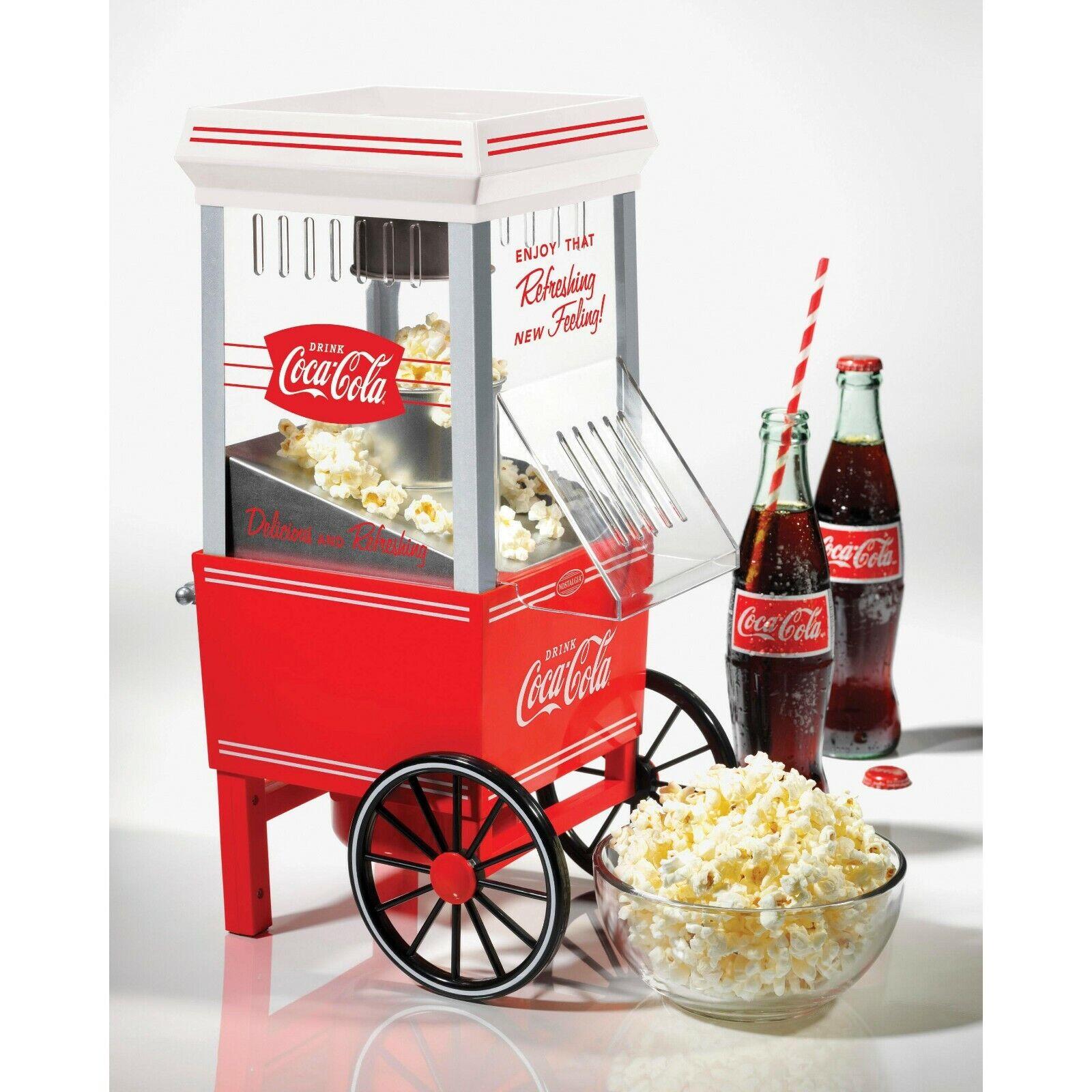 Coke Hot Air Popcorn Maker Nostalgia Coca-Cola Series Counte