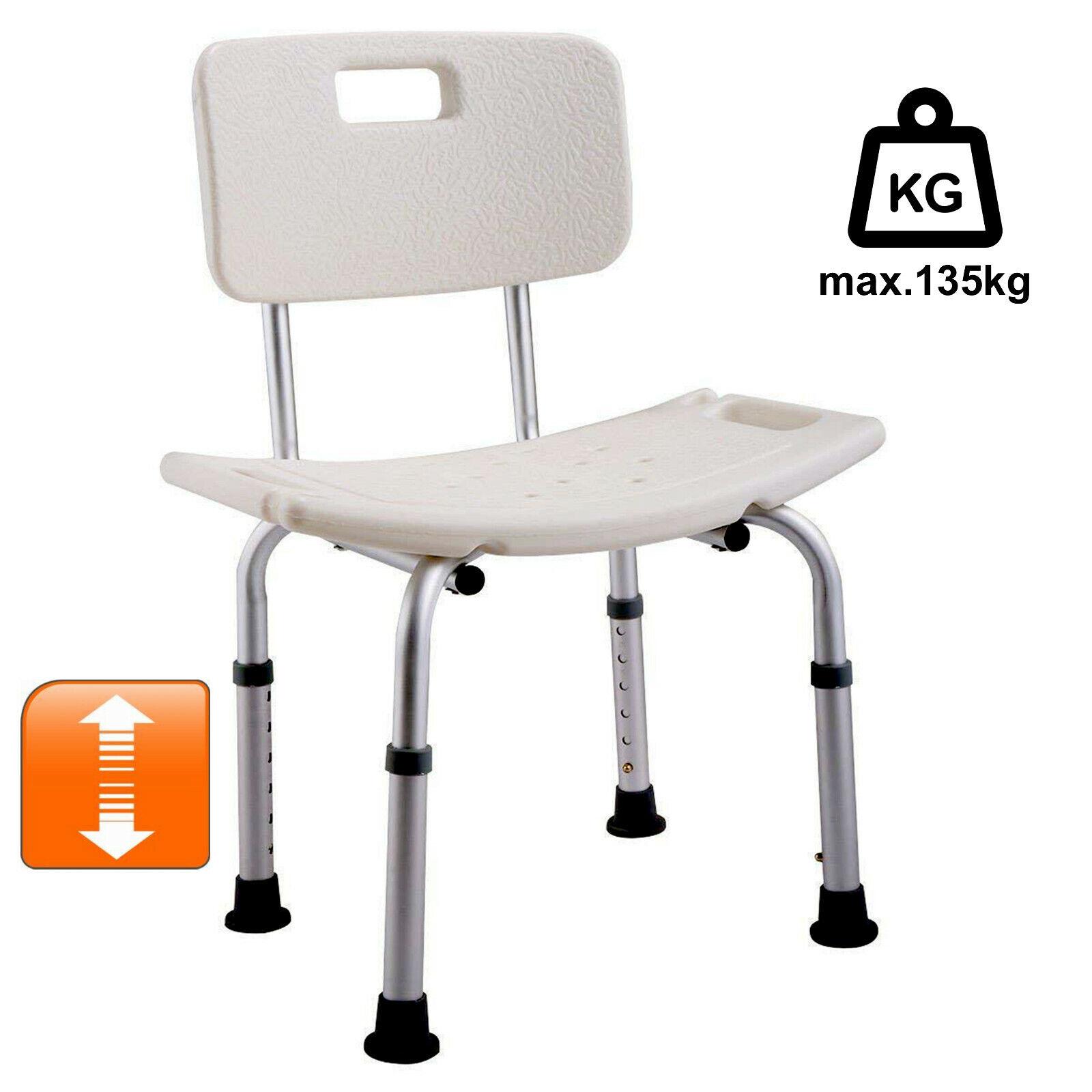 Duschhocker/-stuhl höhenverstellbar mit/ohne Lehne