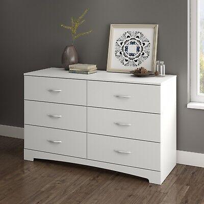 Double Dresser 6 Drawer Accent Furniture Pro Bedroom Design Zen Elegant White