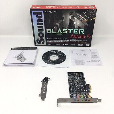 Sound Blaster Audigy Fx - 5.1 Sound Channels - Internal - PCI 70SB157000000