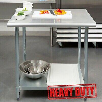 30 X 36 - Stainless Steel Kitchen Restaurant Work Prep Table With Undershelf