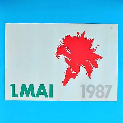 DDR Plakat Poster 878 | 1. Mai 1987 Nelke | 61 x 41 cm Original