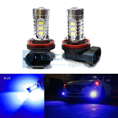 2x Dark Blue H11 H8 LED Fog Light Bulbs 15W SMD 5730 High Bright Daytime DRL