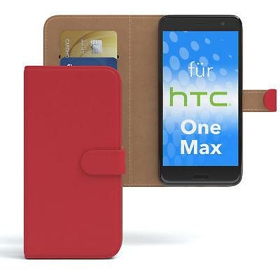 Tasche für HTC One Max Case Wallet Schutz Hülle Cover Rot Htc One Max Case