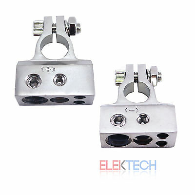 Stinger Select Car/Truck Nickel Battery Terminal Clamp Set Positive & Negative for sale  Shipping to India