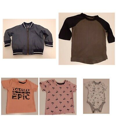 Baby Boys Clothes 9-12 month Bundle Next  George Jacket T-shirts vest 5 items