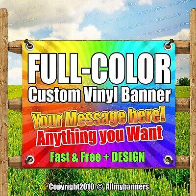 3x6 Custom Vinyl Banner Full Color Free Design Included Pxp