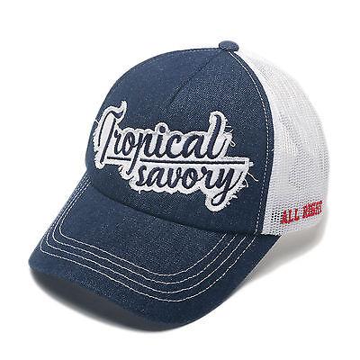 da6d512dafc Unisex Mens Tropical Savoy Airy Mesh Baseball Cap Trucker Hats Blue Denim