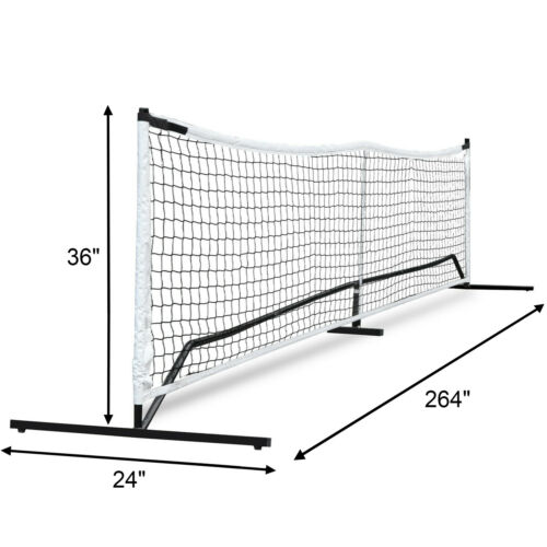 22FT Deluxe Portable Pickleball Set (W/4 Stakes & Carry Bag) Kids Volleyball Other Tennis & Racquet Sports