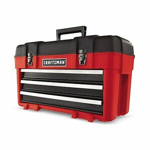 Craftsman 3 Drawer Plastic/Metal Portable Chest Tool Box  **NEW**