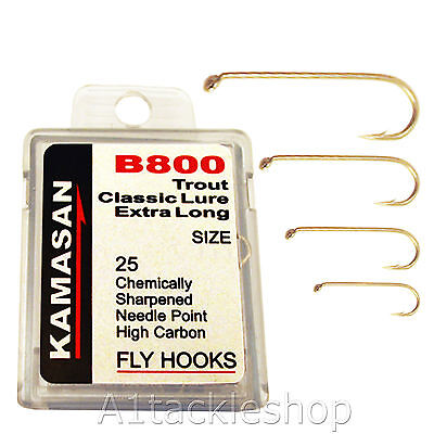 Kamasan Trout Extra Long Hooks Chemically Sharpened Free Postage 25 Pack B800