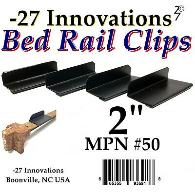 4 CLIPS Antique Flat Top Rail Iron Bed-Box Spring/Mattress CONVERSION KIT 2