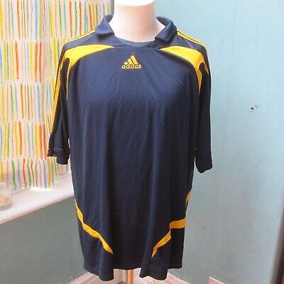 Adidas LA Galaxy Training Warm Up Football Shirt Navy Blue No 23 Men's XL 2007