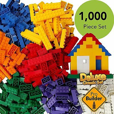 New 1000 Pieces of Building Bricks Bulk Block Compatible to Lego Classic Genuine