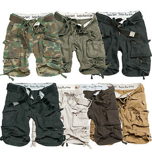 MENS-SURPLUS-VINTAGE-ARMY-DIVISION-MILITARY-SPEC-COMBAT-CARGO-SHORTS-42W-50W