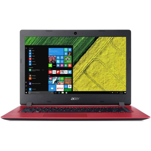 Image of Acer Aspire One 14 Inch Celeron 1.1ghz 4gb 32gb Windows Laptop - Red