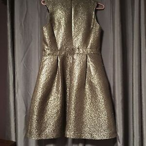 Gold Cocktail Dress - Size 10