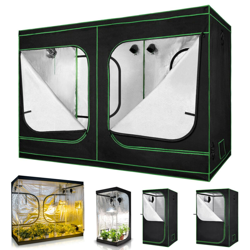 Hydroponics Grow Tent 100% Reflective 600D Mylar Non Toxic Plants Indoor Box
