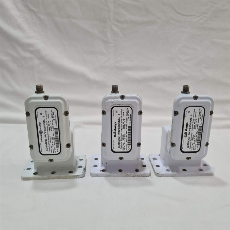 Lot of 3 California Amplifier C Band LNB. 3.4 to 4.2 GHz. Made in USA