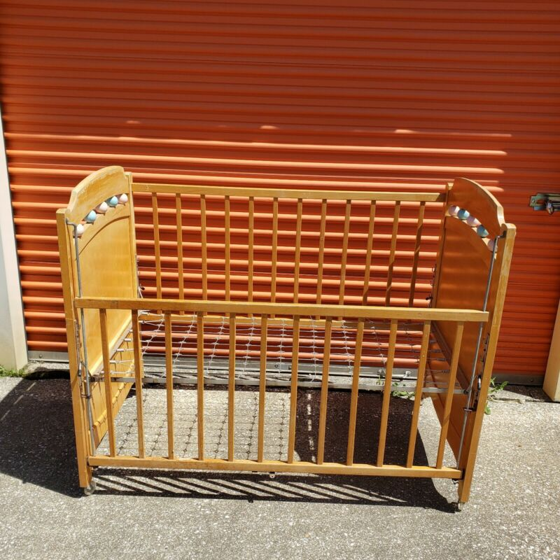 Vintage Solid Wood Baby Crib