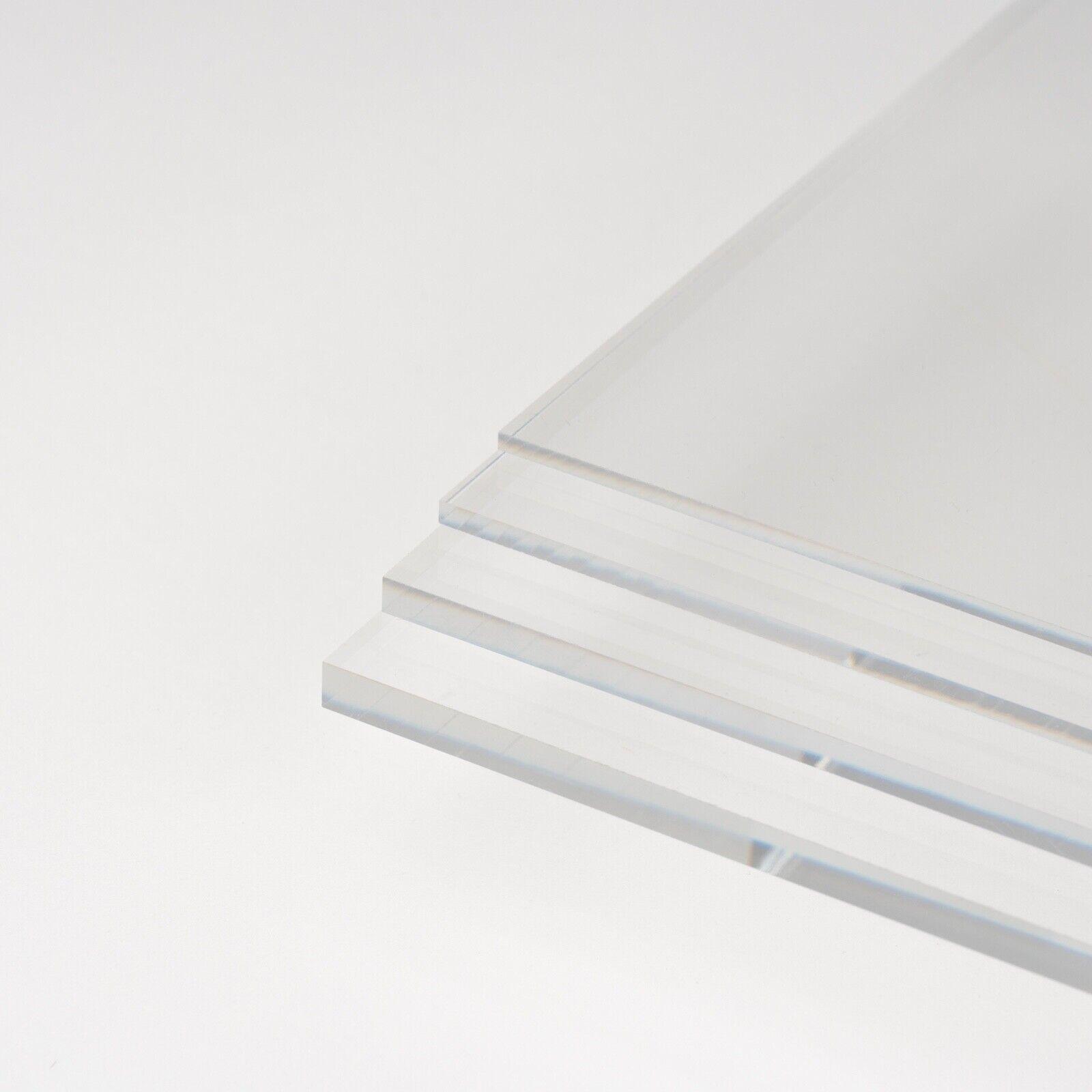 Zuschnitte |St/ärke 5 mm Kanten unbearbeitet UV-Stabil DOLLE Acrylglas XT PMMA | Glasklare Platte in 500 x 250 mm F/ür Innen und Au/ßen