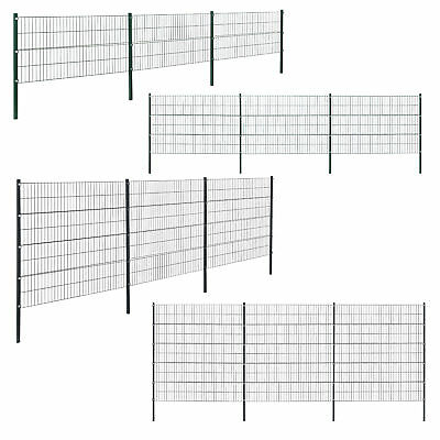 [pro.tec]® 6m Gartenzaun Doppelstab Zaun Set Gittermatten Doppelstabmattenzaun