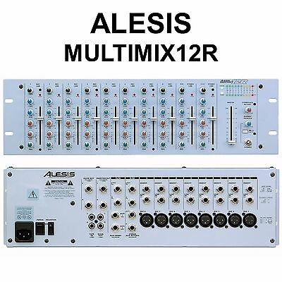 ALESIS MULTIMIX 12R Compact 12 Channel Stereo 3 Space Rackmount Mixer 12 Channel Stereo Mixer