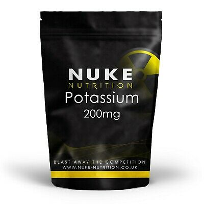Potassium Tablets 200mg x 60 Healthy Blood Pressure Nerve & Muscular Systems